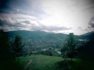 View of Bilbao from the mountain!